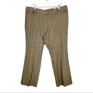 Worthington Brown Plaid Modern Fit Trouser